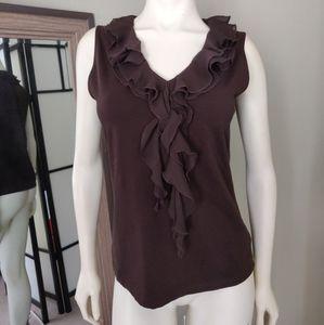 Jones new York ruffle blouse